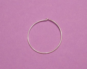 8 pcs - 4 pairs 20 mm plain sterling silver round hoop earwire