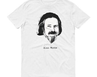 Alan Watts Zen Buddhist philosophy Short-Sleeve T-Shirt