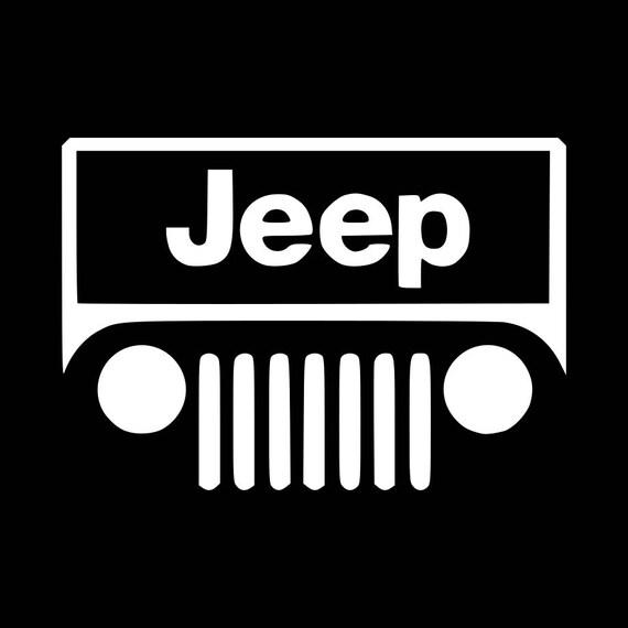 Jeep logo vinyl decal sticker car truck suv window tumbler