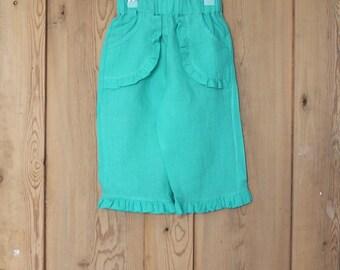 Jade linen capri pants