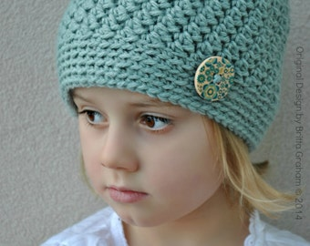 Crochet Hat Pattern - Bumpy Beanie Crochet Pattern No.127 FOUR Sizes Digital PDF Download English