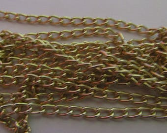1 meter chain, gold chain, clear, jewelery creation