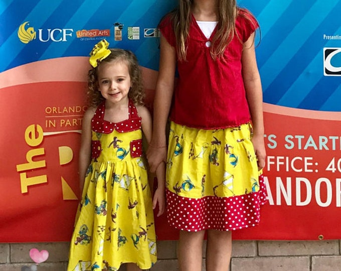 Curious George Bailey Dress and Skirt Sibling Set