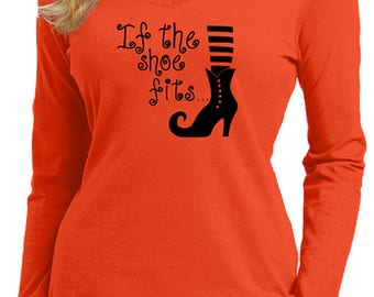 If the Shoe Fits Halloween Witch T-Shirt Custom FREE SHIPPING