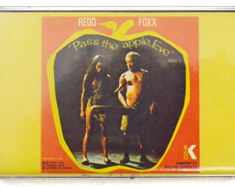 Vintage 70s Redd Foxx Pass the Apple, Eve Comedy Album Cassette Tape