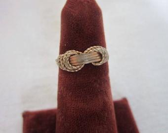 Retro Tied Knot Ladies Ring Size 4.5