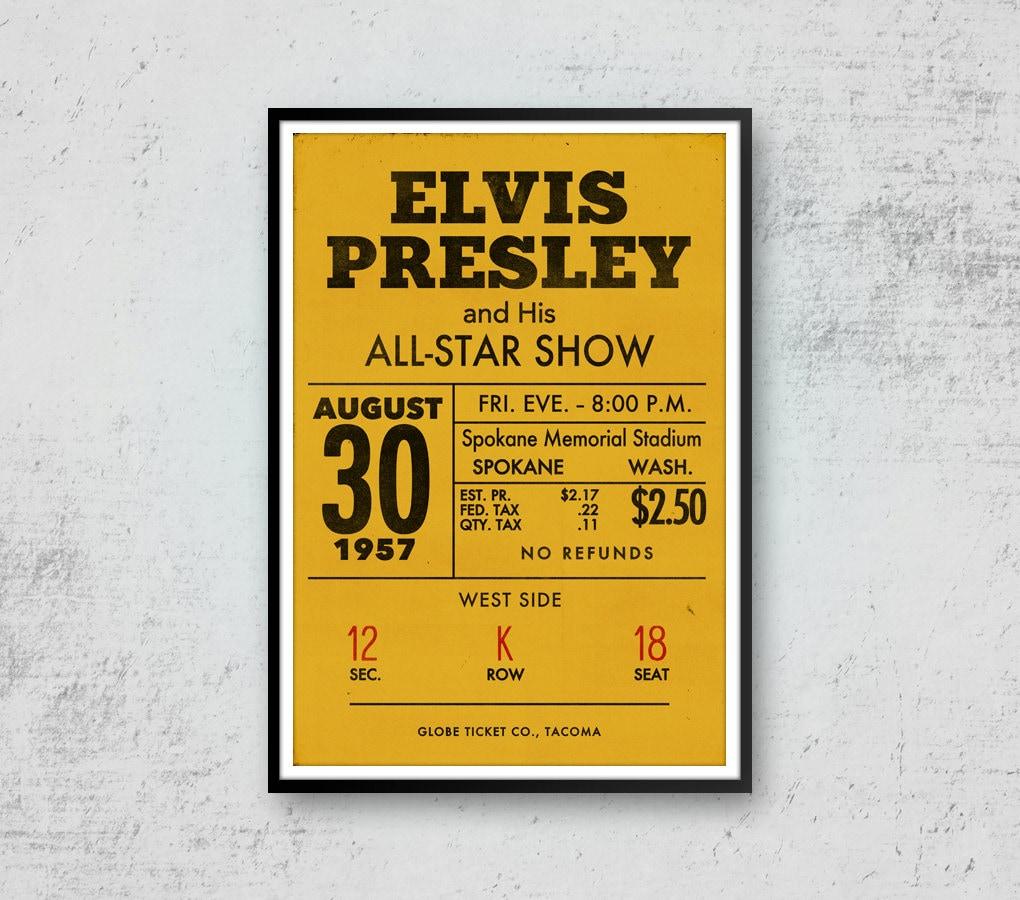 Elvis Presley Print Art Elvis Presley Poster Elvis Concert