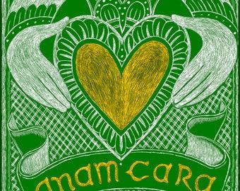 Anam Cara Archival Handmade Greeting Card, 5 x 7 Blank