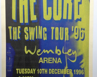 The Cure Vintage Concert Poster Print Reproduction