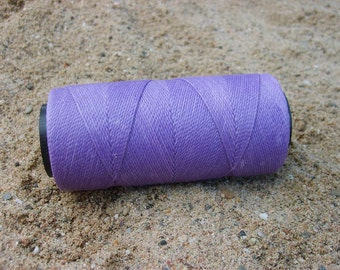 7 rolls of waxed polyester string/cord, 7 x 168 m