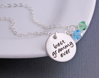Best Grammy Ever Necklace in Silver or Gold, Mother's Day Gift for Grammy, Personalized Jewelry for Grammy, Custom Grammy Necklace