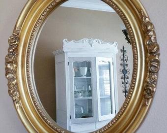 Vintage Mirror Vintage Gold Mirror Oval Mirror Gold Mirror Gold Ornate Mirror Ornate Mirror Vintage Home Decor Wedding Decor