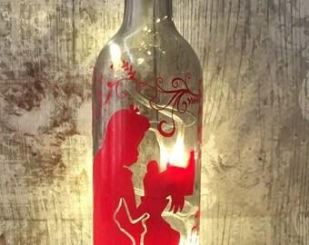 Alice in Wonderland 'Alice with Mad Hatter' light up bottle