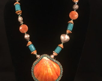 Lion Paw Shell Necklace