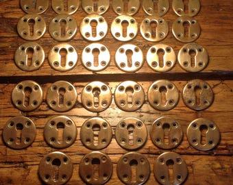Victorian solid bronze key hole cover, escutcheon, victorian hardware, antique lock, lock hole, antique escutcheon, antique key hole cover,