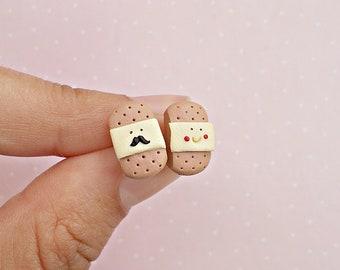 Nurse Earrings - Bandaid Band Aid Stud Earrings Post - Nurse Jewelry - Nurse Gift