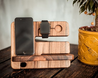 Docking Station Apple Watch,Wood Apple Watch Station,Apple Watch Stand,Apple Watch Dock,Iwatch Dock,Personalized Docking Station,Holder,Gift