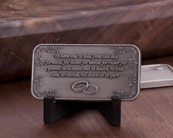 Engravable Wedding Coin