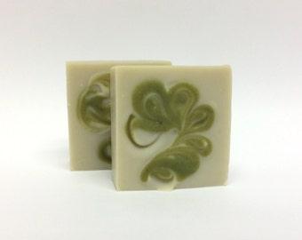 Shaving Soap - Organic Shaving Soap - Lanolin Soap - Bentonite Clay Soap - Pine and Cedar Soap - Men's Shaving Soap - Women's Shaving Soap