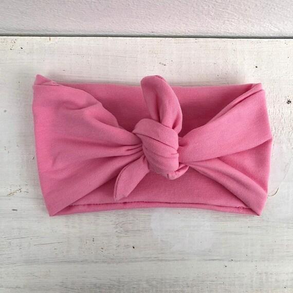 Baby Headband, Baby Headband Knot, Pink Baby Headband, Baby Girl Headband, Knot Headband, Braid Headband, Infant Headbands, Nautical Knot