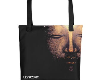 Lanesra Deep Breath Yoga bag | Carry Bag | Tote bag | Gym bag | Work out Bag | Beach Bag | Grocery bag | Yoga Hand Bag | All Purpose Bag
