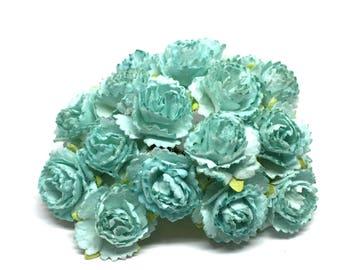 small aqua blue carnations pc023