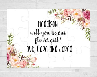 Flower Girl proposal, will you be my flower girl, flower girl, bridesmaid proposal, will you be my, Flower girl gift, flower girl puzzle