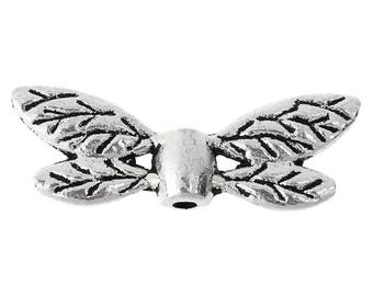 pretty silver color 22 * 8 mm set of 8 wings charms