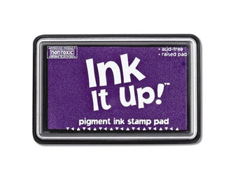 Lavender Purple Ink It Up Pigment Ink Stamp Pad Scrapbooking or Card Making birthday cards crafts papercrafting rubber embossing stamping