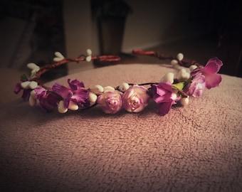 Purple baby/child Flower Crown Halo