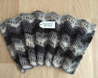 Woman's Crochet Wavy Cowl, Scarf, Gift for Her
