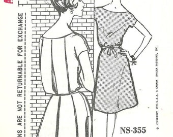 Spadea NS 355 / Vintage Designer Sewing Pattern By Charles Montaigne / Dress / Size 14