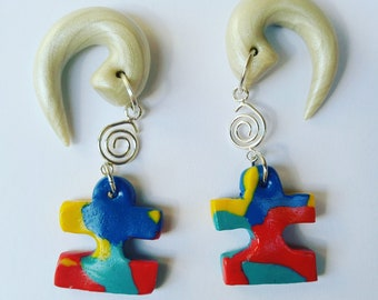 Autism Puzzle Pieces for Stretched Lobes