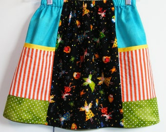 Wizard scrappy big pockets  skirt   (2T, 3T, 4T, 5T, 6, 7)