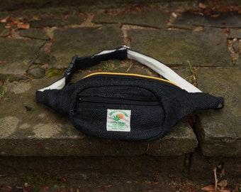 Black Hemp Waist Bag