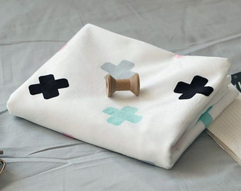 Microfiber Minky Fabric Cross By The Yard