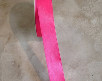 Satin ribbon double sided 20 mm hot pink