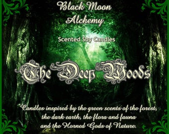 The Deep Woods Scented Soy Candle - THE GREEN MAN