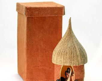 African Nativity with Bark Cloth Box