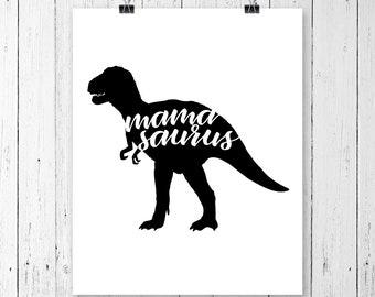 INSTANT DOWNLOAD! Mamasaurus Dinosaur, Clipart, Svg, Dxf, Pdf, Cricut Cut Files, Silhouette Cut Files