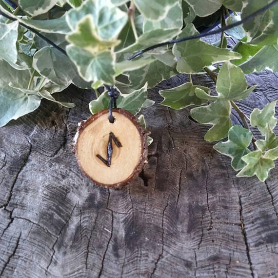 Rune Necklace - Rune Pendant -  Ihwaz - Talisman Necklace - Necklace For Men - Necklace For Women - Rune Jewelry