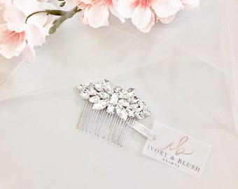 Bridal Hair Comb - Wedding Hair Piece Rhinestone Hair Comb Crystal Hair Comb Wedding Hair Pieces Bridal Hair Combs - Style #HC0117