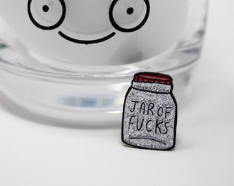 Jar of Fucks - No fucks - Don't care - Go away - Soft Enamel Pin - Pin Game - Pin Collector - Rude Pin - Swear Pin