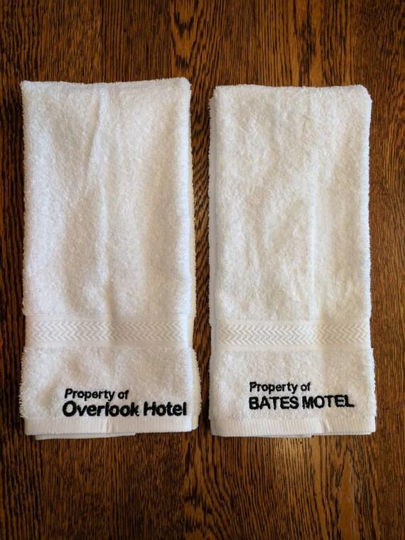 Horror Hand Towel Set (2, embroidered) (bates, bates motel, towel, horror, overlook hotel, overlook, cortez, hotel cortez, psycho, ahs)