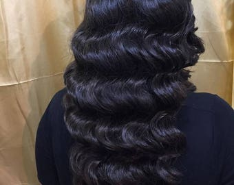 Retro Hollywood Waves Lace Front Wig
