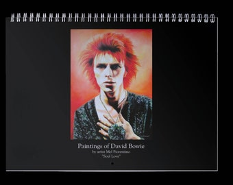 Paintings of David Bowie by artist Mel Fiorentino Calendar. Limited Edition. Signed and numbered by artist. First 10 orders to receive gift.