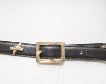 Vintage  Paloma Picasso Black leather Belt.