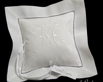 Personalized ring bearer pillow Custom monogram wedding ring bearer pillow jfyBride Style 5214