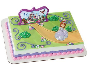 Sofia The First - Sofia and Castle- Make your own cake - Cake Toppers Decorations Party Favors Supplies