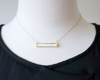Marble Bar Necklace